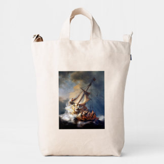 Tormenta de Rembrandts en el mar de Galilea Bolsa De Lona Duck