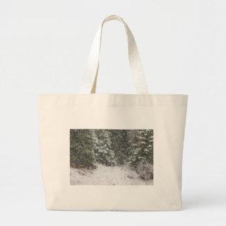 Tormenta del invierno bolsa tela grande