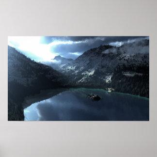 Tormenta del lago Tahoe Posters
