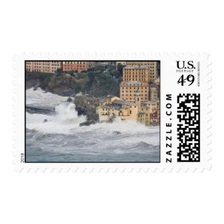 tormenta del mar en Camogli Envio