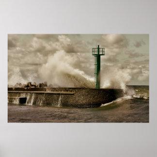Tormenta del mar póster