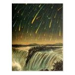 Tormenta del meteorito de Leonid que pinta a parti Tarjetas Postales
