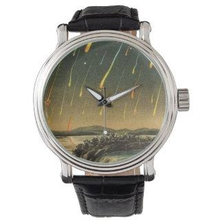 Tormenta del meteorito de Leonid que pinta a Reloj De Mano