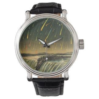 Tormenta del meteorito de Leonid que pinta a Relojes De Mano