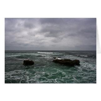 Tormenta del océano tarjeta de felicitación