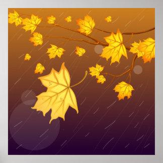 Tormenta del otoño póster