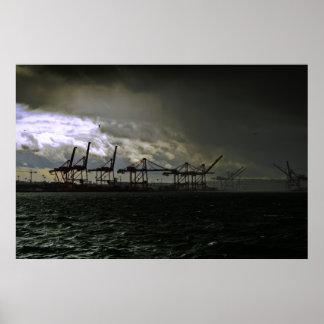 Tormenta del puerto póster