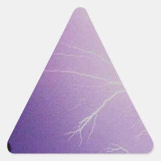 Tormenta del relámpago pegatina triangular