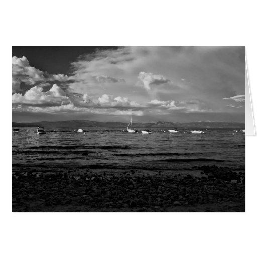 Tormenta el lago Tahoe del verano del claro Felicitacion