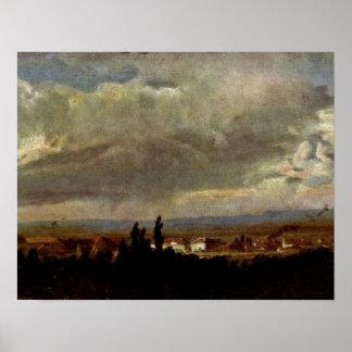 Tormenta en Dresden de Johan Claussen cristiano Da Póster