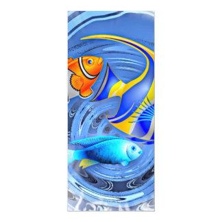 """tormenta en el acuario (c) invitación 4"""" x 9.25"""""""