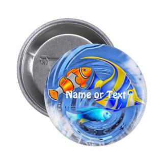 tormenta en el acuario (c) chapa redonda 5 cm