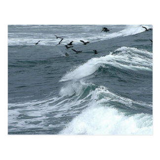 Tormenta en el agua tarjeta postal