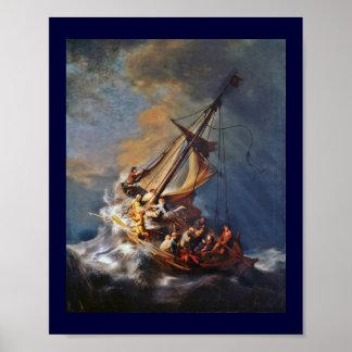 Tormenta en el mar de Galilea Póster