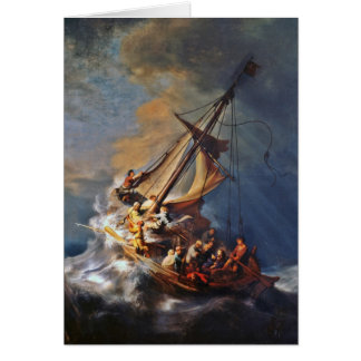 Tormenta en el mar de Galilea Tarjeta De Felicitación