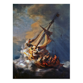 Tormenta en el mar de Galilea Postal