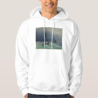 Tormenta en el mar de Ivan Aivazovsky 1873 Pulóver Con Capucha