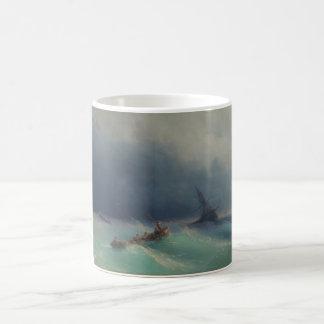 Tormenta en el mar de Ivan Aivazovsky 1873 Taza De Café