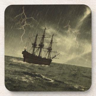 Tormenta en el mar posavaso