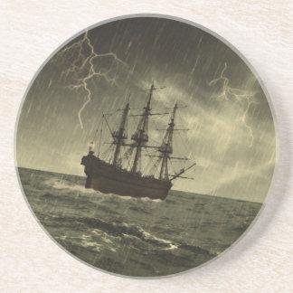 Tormenta en el mar posavasos manualidades