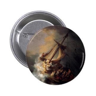 -Tormenta-en--Mar-de-Galilea-por-Rembrandt-furgone Pin Redondo De 2 Pulgadas