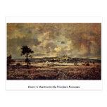 Tormenta en Montmartre de Theodore Rousseau Postales
