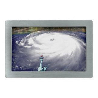 Tormenta estupenda Sandy 2012, ojo del storm_ Hebilla De Cinturón