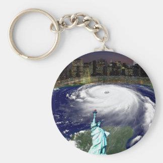 Tormenta estupenda Sandy 2012, ojo del storm_ Llaveros Personalizados