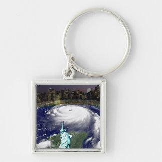 Tormenta estupenda Sandy 2012, ojo del storm_ Llavero Personalizado