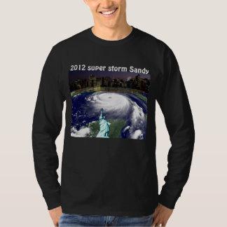 Tormenta estupenda Sandy 2012, ojo del storm_ Remera