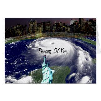 Tormenta estupenda Sandy 2012, ojo del storm_ Tarjeta Pequeña