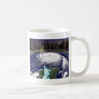 Tormenta estupenda Sandy 2012, ojo del storm_ Taza Clásica
