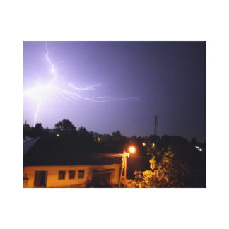 tormenta, Hungría, húngaro, país del bacskiskun, Impresión De Lienzo
