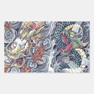 Tormenta japonesa oriental fresca del tatuaje de rectangular altavoces