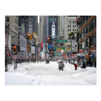 Tormenta New York City 12/26/10 de la nieve del Postal
