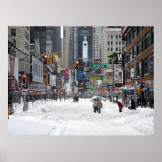 Tormenta New York City 12/26/10 de la nieve del Póster