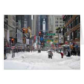 Tormenta New York City 12/26/10 de la nieve del Tarjeta De Felicitación