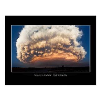 Tormenta nuclear tarjetas postales