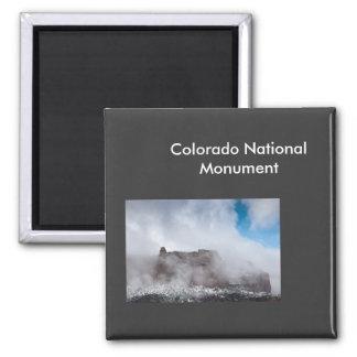 Tormenta sobre el monumento nacional de Colorado Imán Cuadrado