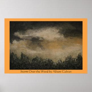 Tormenta sobre la madera del artista fino Alison Póster