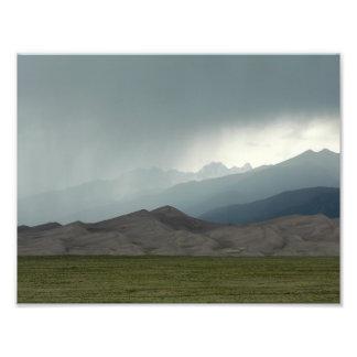 Tormenta sobre las grandes dunas de arena, Colorad Fotografías