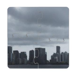 Tormenta sobre Miami Posavasos De Puzzle