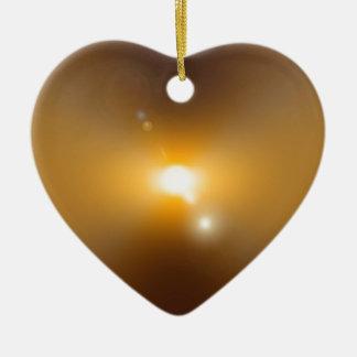 Tormenta solar adorno de cerámica en forma de corazón