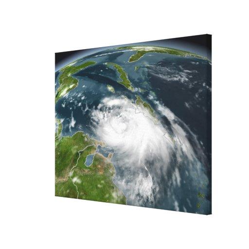 Tormenta tropical Dennis Impresión En Lienzo Estirada