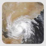 Tormenta tropical tres en el indio septentrional pegatina cuadrada