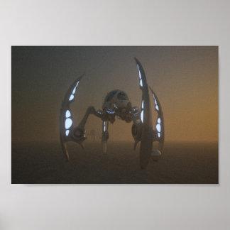 Tormentas del polvo en titán impresiones