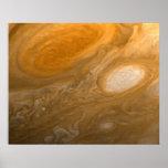 Tormentas que remolinan de Júpiter del planeta y p Impresiones