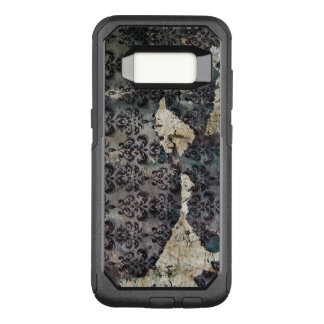 Torn and Worn Vintage Antique Floral Wallpaper OtterBox Commuter Samsung Galaxy S8 Case