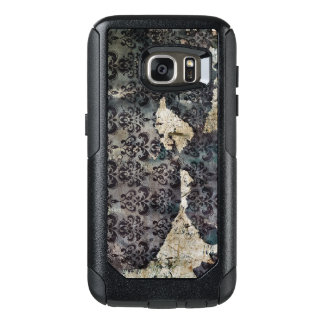 Torn and Worn Vintage Antique Floral Wallpaper OtterBox Samsung Galaxy S7 Case