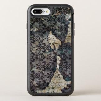 Torn and Worn Vintage Antique Floral Wallpaper OtterBox Symmetry iPhone 7 Plus Case